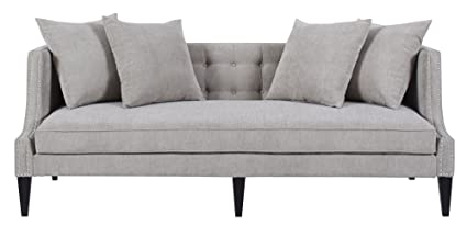 Jennifer Taylor Home Caroline Collection Modern Tuxedo Style Button Tufted  Upholstered Living Room Sofa With Nailhead