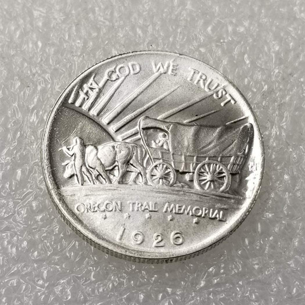 Hobo Nickel Coin Discover History of US Coins Future experience FKaiYin 1926 Antique Liberty Oregon Half-Dollar Coin Commemorative US Old Coin US Old Coins