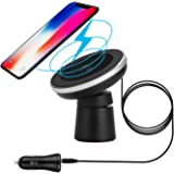 Spedal Wireless Car Charger 2-in-1 Magnetic Vehicle Mount Phone Holder Air Vent or Dashboard for iPhone X/iPhone 8 Plus/iPhone 8/Samsung Galaxy Note 8/S8/S8 Plus and All Qi-Enabled Devices