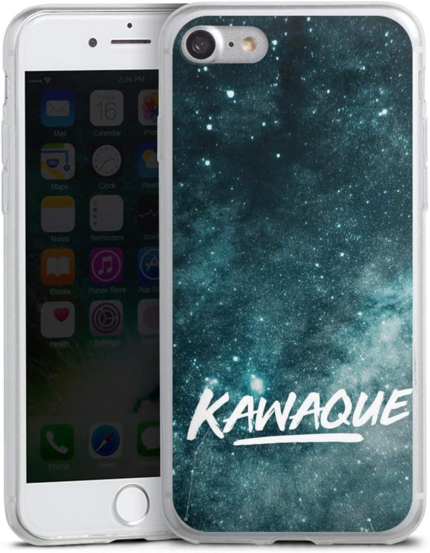 DeinDesign Slim Case extra d/ünn kompatibel mit Apple iPhone 8 Silikon Handyh/ülle transparent H/ülle Kaffee Spr/üche Statement