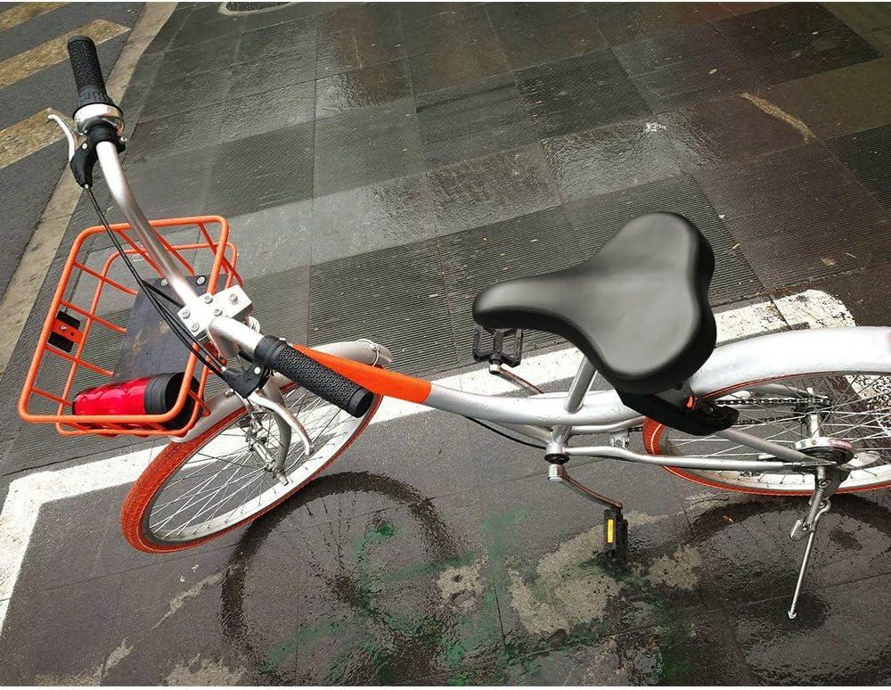 Zacro - Sillín de bicicleta grande para bicicleta de exterior, bicicleta estacionaria y bicicleta de carretera, sillín negro transpirable, incluye una llave de montaje: Amazon.es: Deportes y aire libre