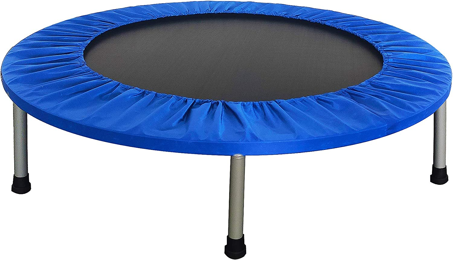 BalanceFrom 40-inch Fitness Trampoline with or Without Adjustable U-Shape Handle, 300-Pound Capacity, Black