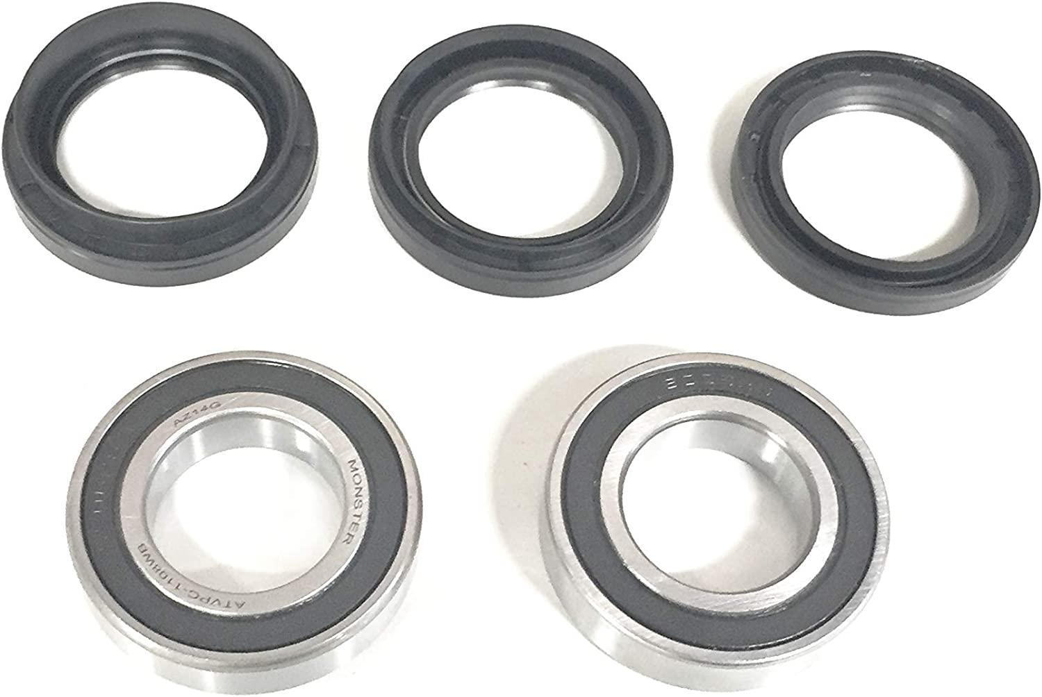 2002-2007 Suzuki Vinson 500//Eiger 400 2x4 4x4 BOTH Front Wheel Bearing and Seal Kits