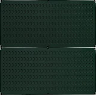 product image for Wall Control Pegboard Rack Horizontal Metal Pegboard Garage Tool Storage Pack - Two 32-Inch Wide x 16-Inch Tall Easy to Install Peg Boards (Green)