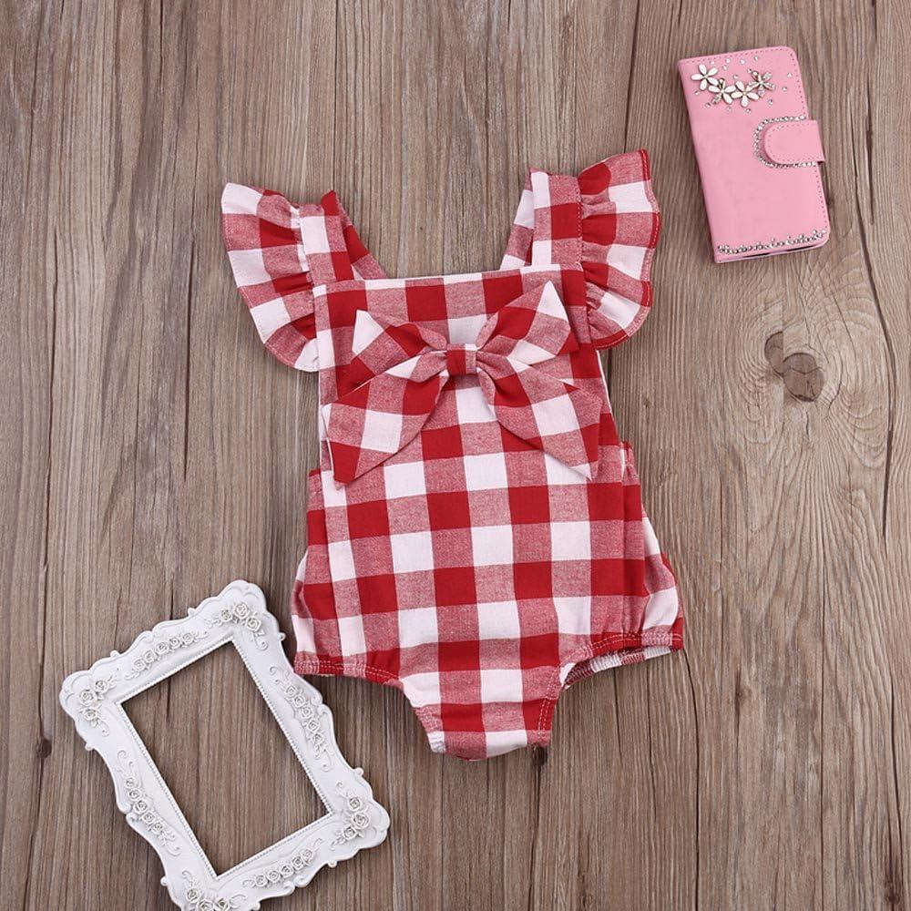 Haarnadel Kost/üm F/ür 0-18 Monate Bekleidungsset sunnymi Baby M/ädchen 2 TLG Gitter Bowknot Shorts Strampler