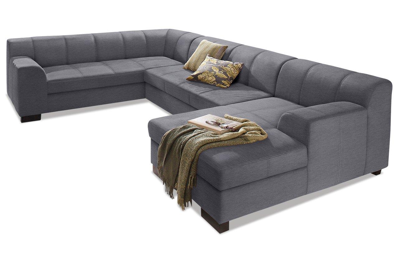 Sofa Wohnlandschaft Falk Chenille Grau Online Kaufen