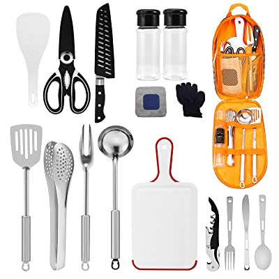 Buy Camping Kitchen Equipment Camping Cooking Utensils Set Portable Picnic Cookware Bag Campfire Barbecue Appliances Essential Gadgets And Accessories Suitable For Tent Campers Outdoor Picnic Barbecues Online In Turkey B0945w8m1z