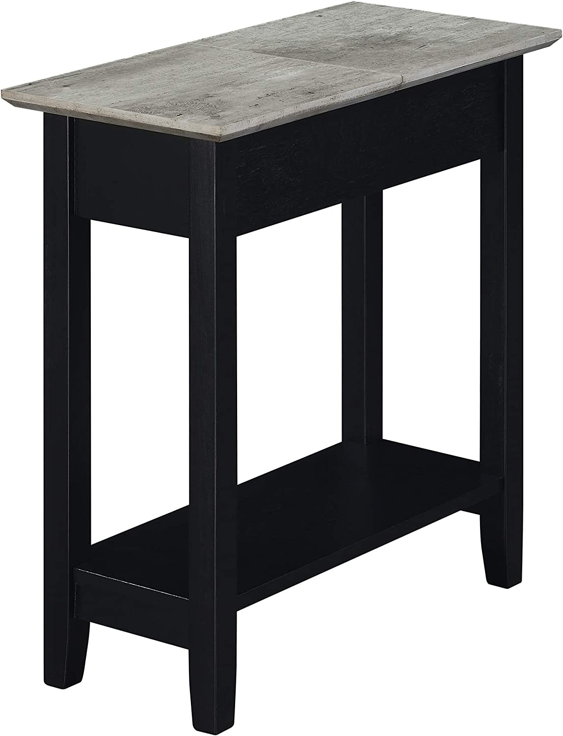 Convenience Concepts American Heritage Flip Top End Table, Faux Birch/Black