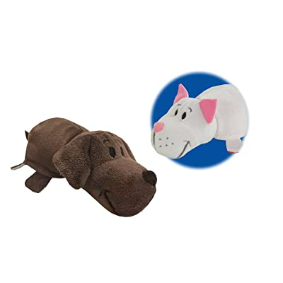 "FlipaZoo's Little FlipZee 5"" Pocket Size Plush Figure - Chocolate Lab Transforming To White Cat (the Toy That Flips For You): Toys & Games"