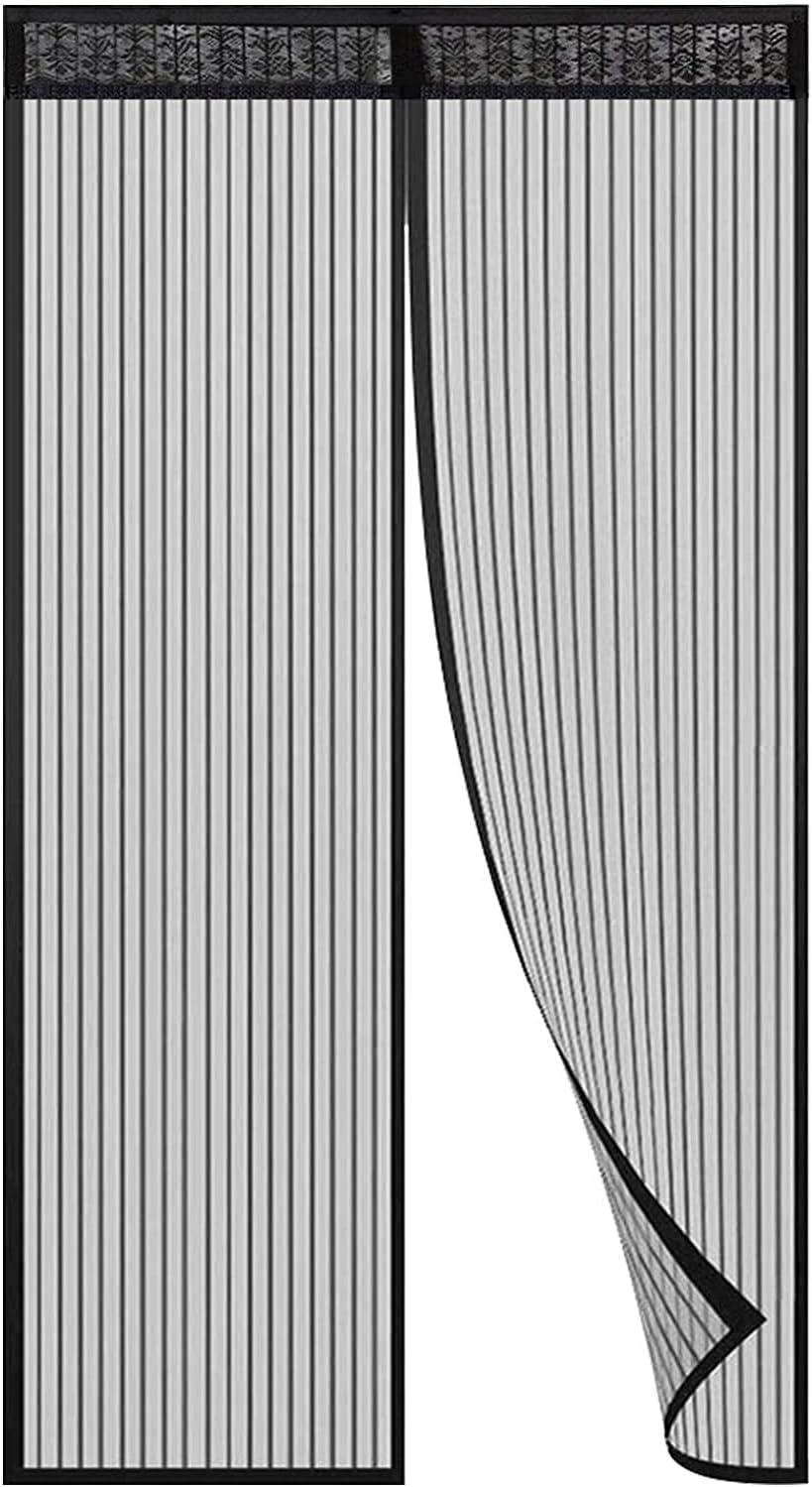 Hiveseen Cortina Mosquitera Magnética para Puertas, 90x210cm, Anti Insectos Moscas y Mosquitos, con 18 Imanes Cierre Automático, para Puertas Correderas/Balcones/Terraza