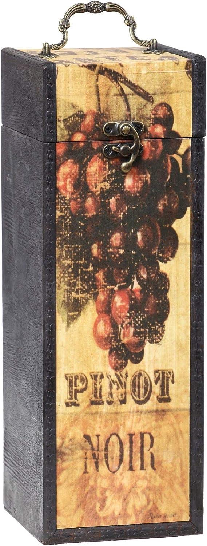 MYBOXES - Caja de Regalo para 1 Botella de Vino (10,8 x 11,5 x 32 cm)
