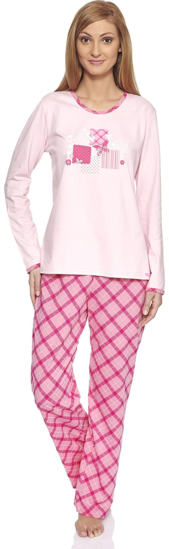 Cornette Pijama Conjunto Camiseta y Pantalones Ropa de Casa Mujer CR-655-Morning