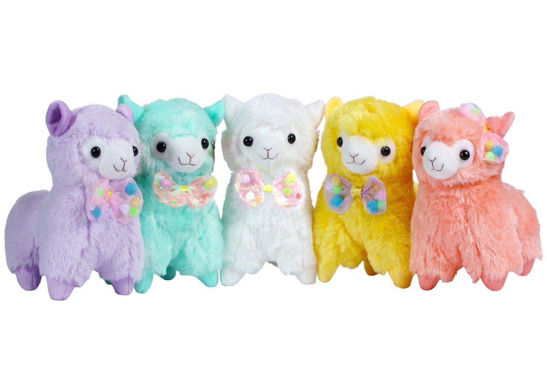 kosbon 18,5 cm Coque souple en peluche poupée en peluche coussin en laine dalpaga, Meilleur anniversaire cadeaux de Noël pour les enfants Enfants de plus ...