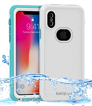 Dailylux Funda iPhone XS, Funda iPhone X, Funda Impermeable para iPhone X, Carcasa para iPhone X/XS IP68 Normal o bajo el Agua de Doble Uso PC + TPU ...