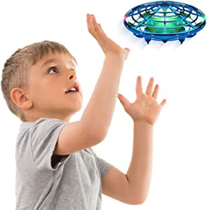 Force1 Scoot Hand Operated Drones for Kids or Adults - Hands Free Mini Drone, Easy Indoor Small UFO Flying Ball Drone Toys for Boys and Girls (Blue)