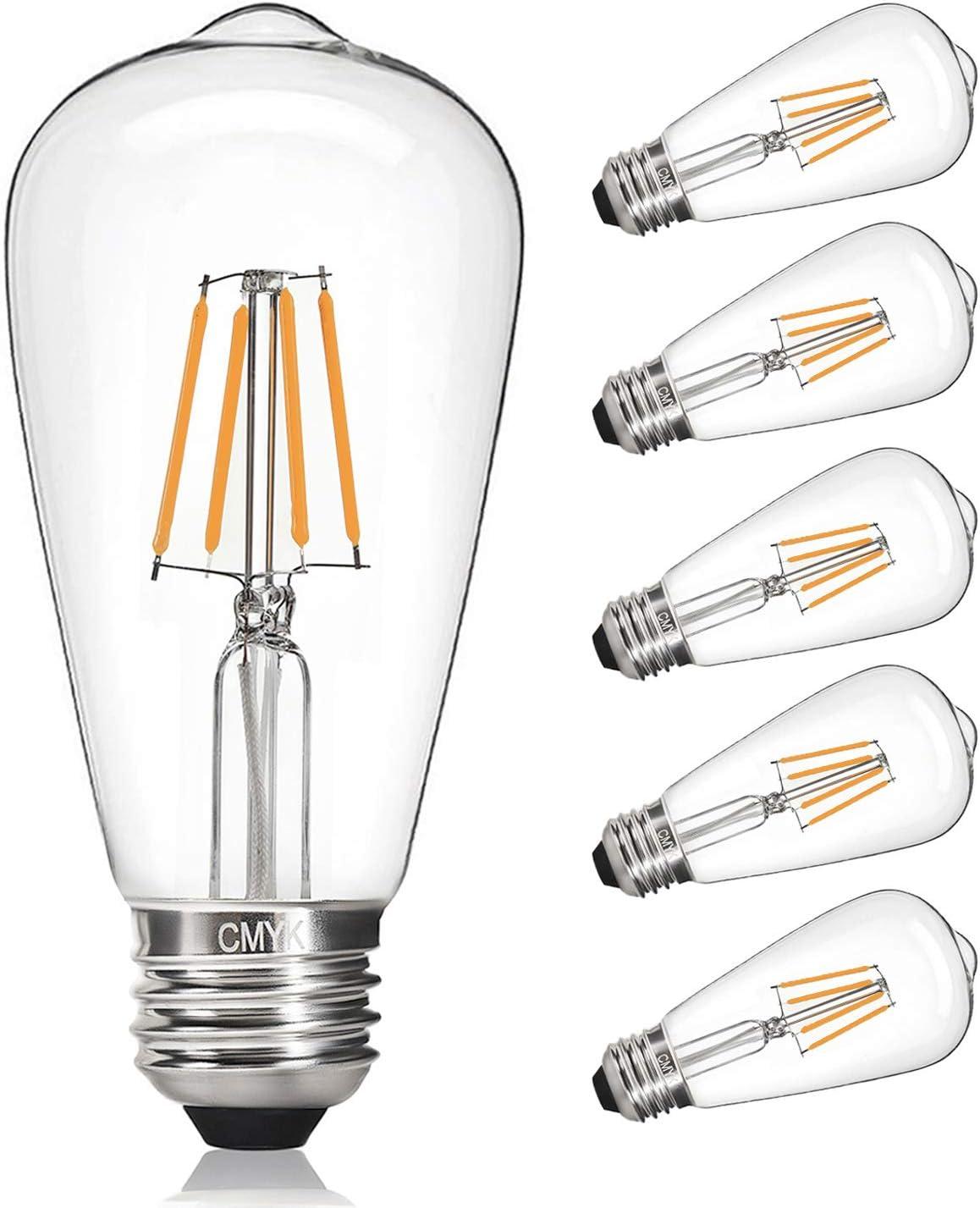 ST64-4W E27 LED Deco Filament Edison Lampe gold = 30W EPOCA 2700K Retro
