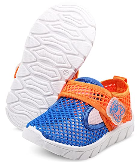 365fcdfb8f66b2 DADAWEN Baby s Boy s Girl s Water Shoes Lightweight Breathable Mesh Running  Sneakers Sandals Blue US Size 4