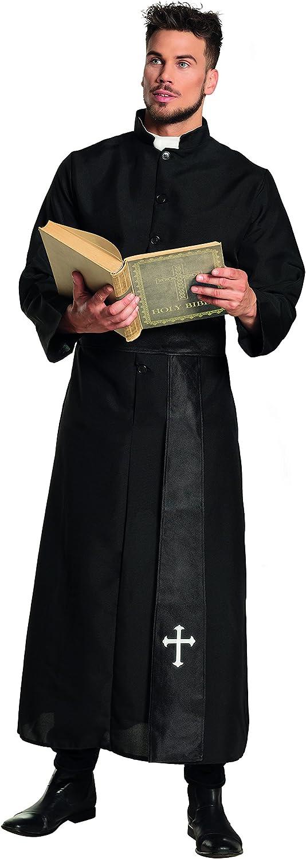 Heiliger Gr/ö/ße 50//52 Karneval Erwachsenenkost/üm Priester Motto Party Kardinal Pfarrer Tunika Kirche Toga und G/ürtel Boland 83530 schwarz