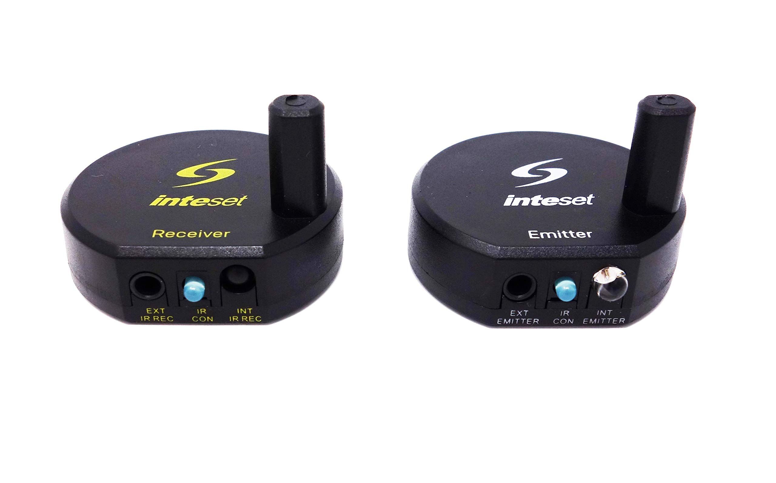 Inteset Wireless IR Repeater, Extender & Blaster Sends Infrared Using Long Range Radio Frequency (RF) for Cable & Satallite Boxes as Well as Most Other A/V Devices by Inteset