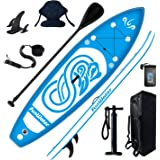 FunWater SUP Inflatable Stand Up Paddle Board 10'x31''x6'' Ultra-Light Inflatable Paddleboard with ISUP Accessories,Fins,Adju
