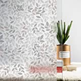 MSUP Window Privacy Film, Non-Adhesive Decorative Window Clings, Frosted Removable Window Covering for Home Office (Grey…