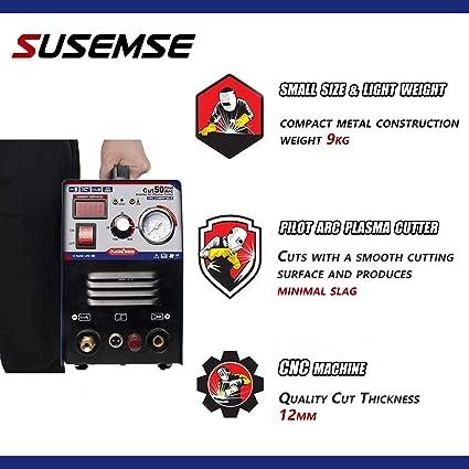 Piloto arco plasma cortador CUT50P 50A 220V no-Touch digital aire inversor port/átil equipo de soldadura 12MM