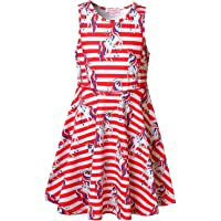 QPANCY Girls Sleeveless Dresses Unicorn Outfits Clothes Kids