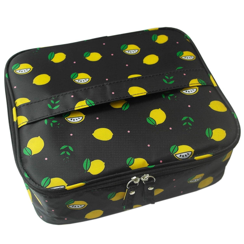 ANEMEL Travel Makeup Cosmetic Bag Portable Organizer Case Toiletry Bags Multifunctional For Women Girls Black