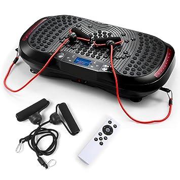 b992481126 GENKI Upgraded Bluetooth Vibration Plate Whole Body Massage Power Plateform  Slim Exercise Fitness Machine Black