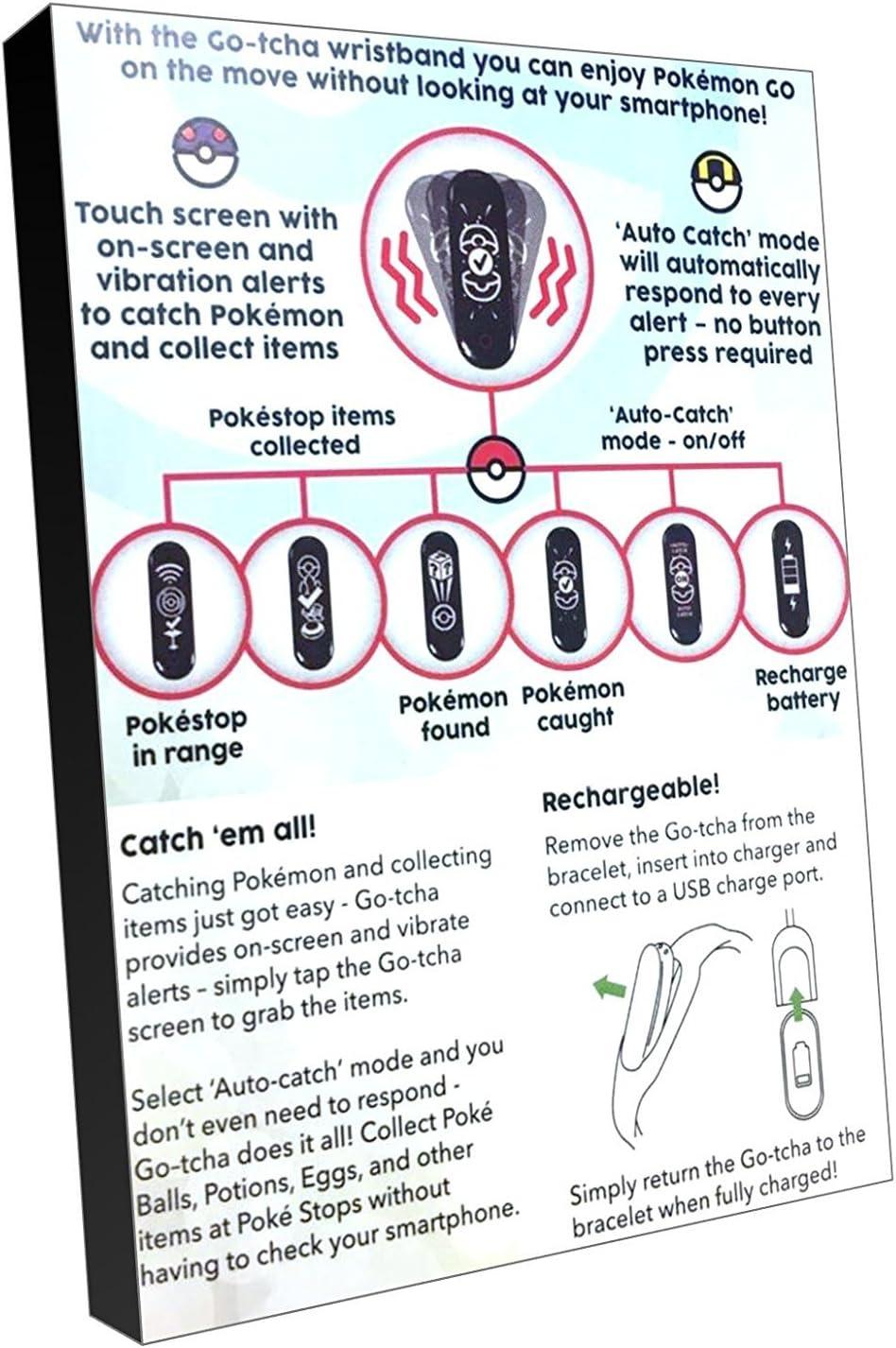 Amazon com: Go-Tcha LED Touch Screen Wristband for Pokémon