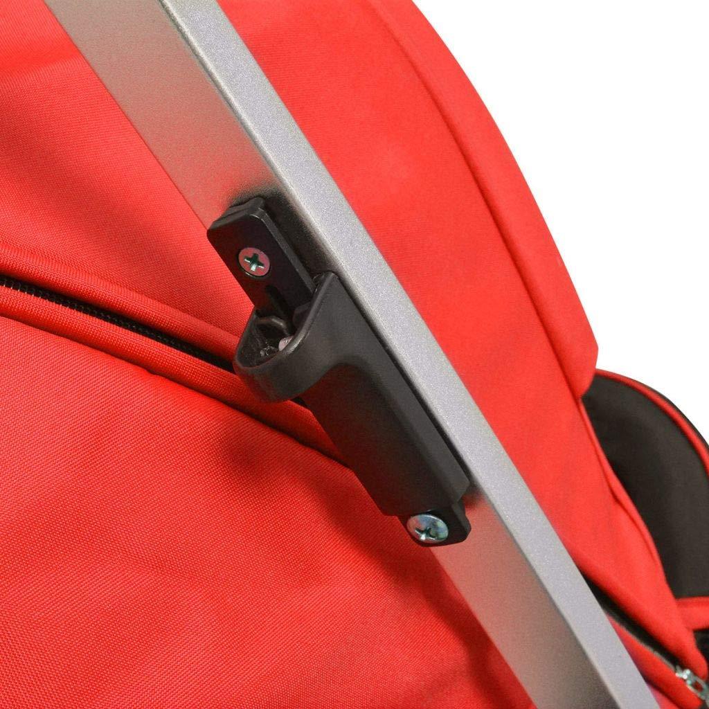 yorten 2-en-1 Carrito Cochecito//Silla de Beb/é 97 x 49 x 101 cm Aluminio y Tela Oxford Rojo y Negro
