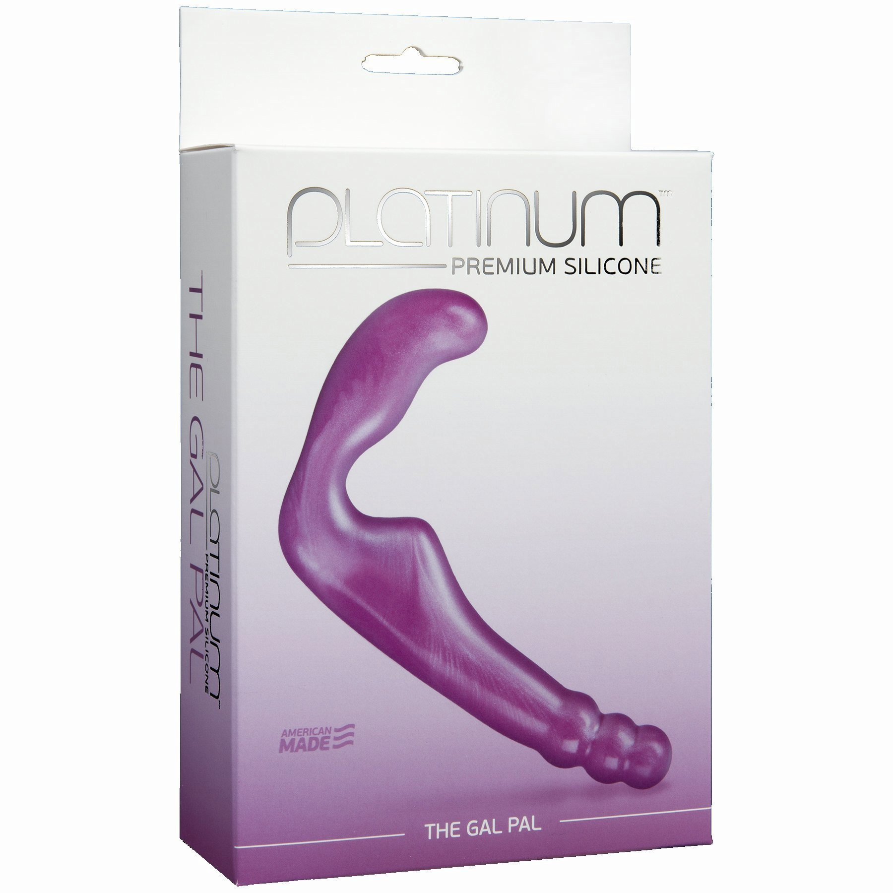 Platinum Silicone Gal Pal Strapless Strap-On Dong 8 Inch Purple