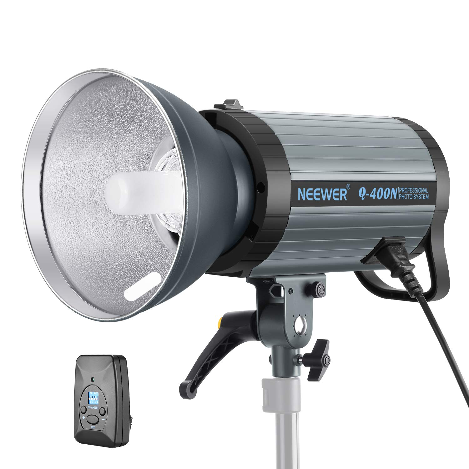 Neewer 400W GN65 Studio Flash Strobe Light Monolight with 2.4G Wireless Trigger and Modeling Lamp, Recycle in 0.01-0.5 Sec, Bowens Mount for Indoor Studio Portrait Photography(Q400N) by Neewer