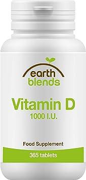 Earth Blends - Vitamina D 1000 I.U., vitamina del sol, para niños a ...