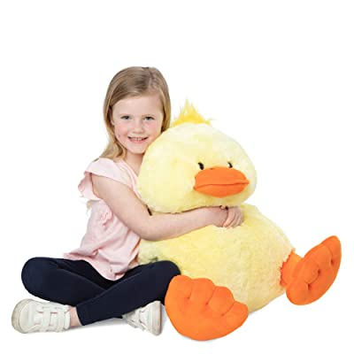 "Melissa & Doug Jumbo Yellow Ducky Stuffed Animal (20"" Tall, Great Gift for Girls and Boys - Best for 2, 3, 4 Year Olds and Up): Toys & Games"