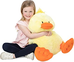 """Melissa & Doug Jumbo Yellow Ducky Stuffed Animal (20"""" Tall, Great Gift for Girls and Boys - Best for 2, 3, 4 Year Olds and Up)"""