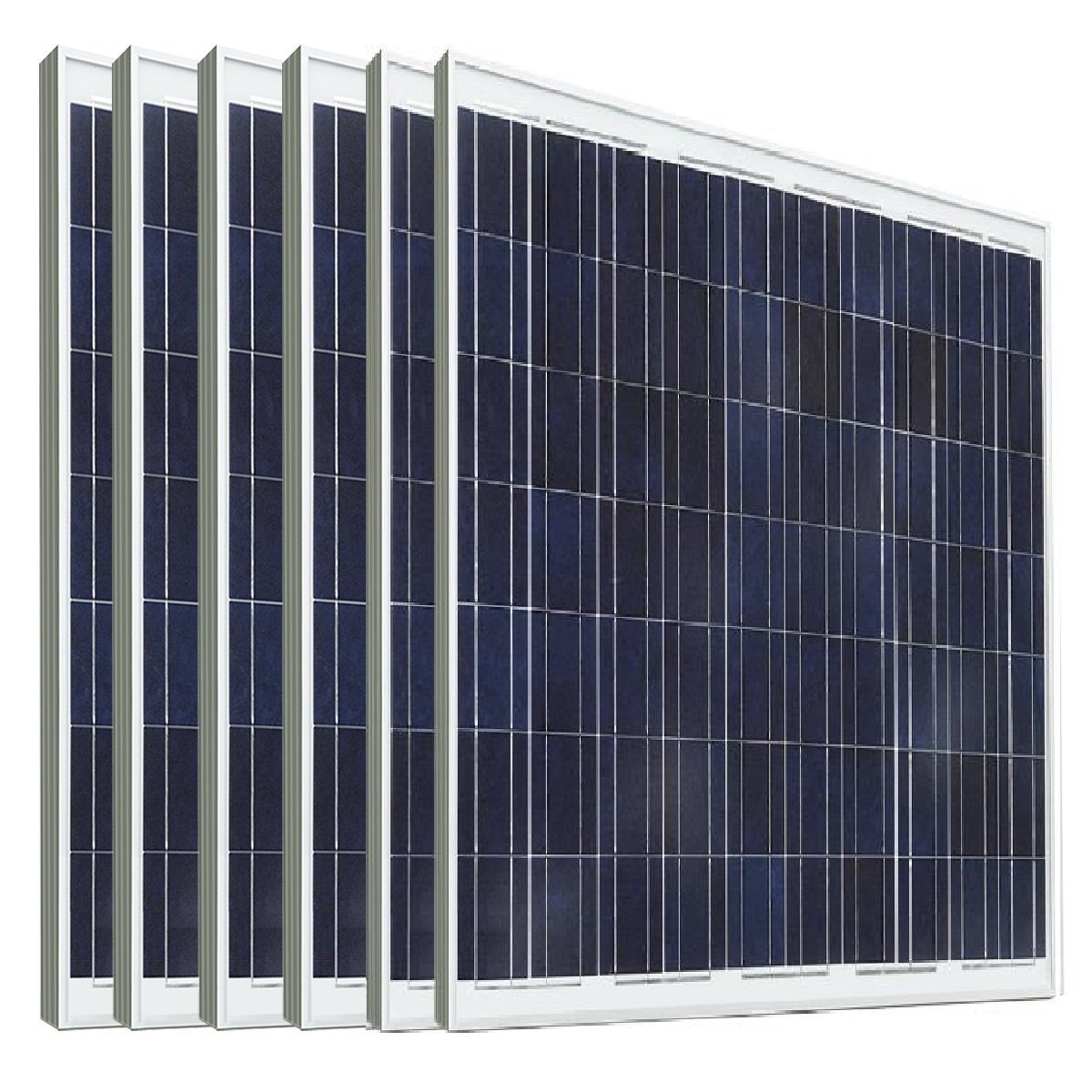 ECO-WORTHY 1KW Solar System PV: 6pcs 180 Watts 24 Volts PV Solar Panel Module 24V Battery Charging