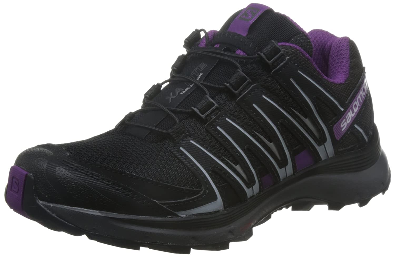 Salomon Xa Lite Damen Traillaufschuhe, Black/Magnet/Grape Juice, 45 1/3 EU