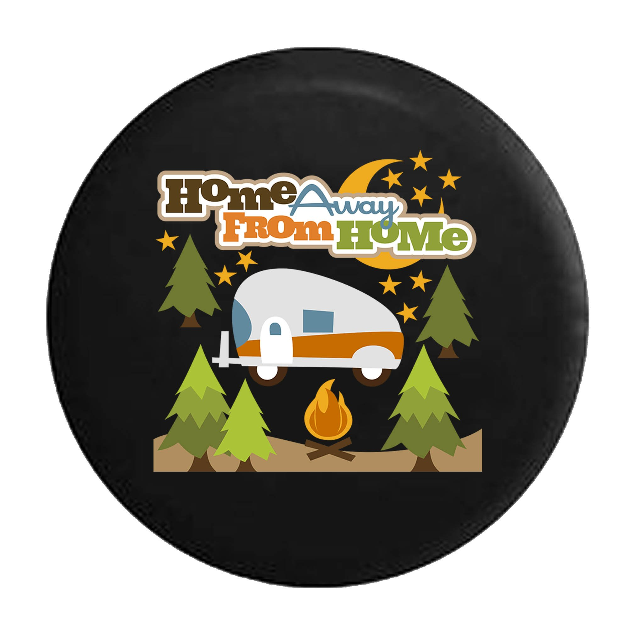 Pike Outdoors Home Away from Home RV Trailer Campfire Camping Tire Cover Black 35 in by Pike Outdoors