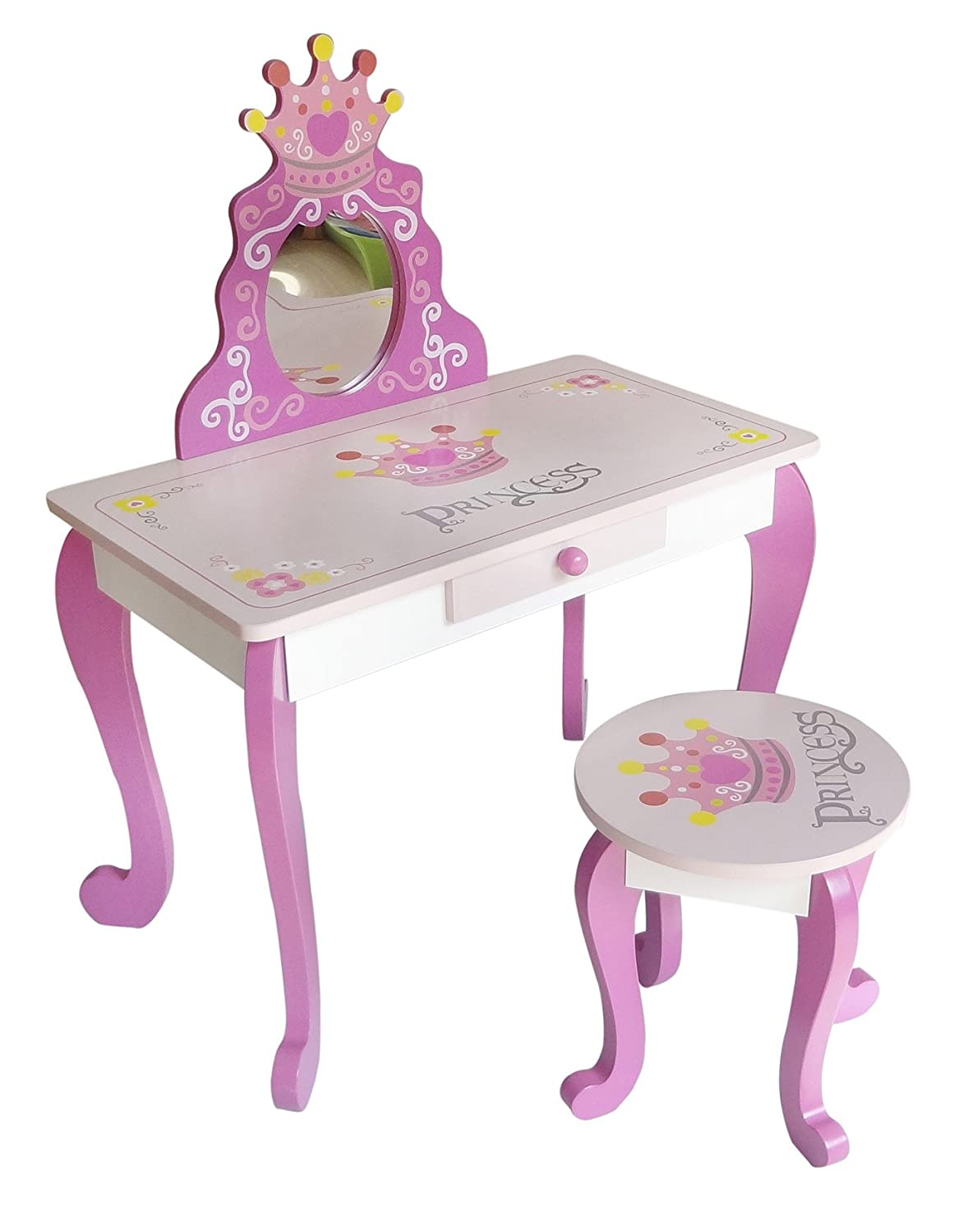 Kiddi Style Wooden Princess Dressing Table & Stool Bebe Style PRNC-1DRST