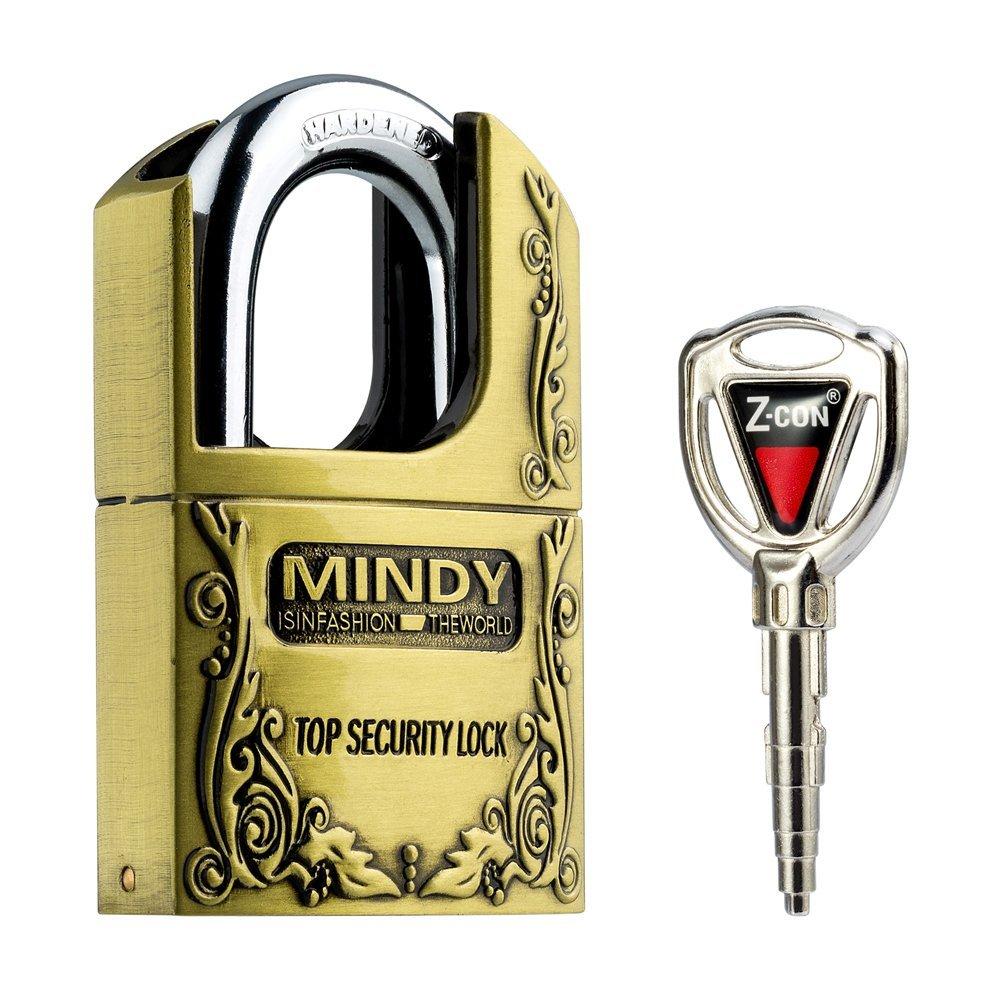 Mindy Anti-Theft Hard Steel Keyed Padlocks High Security Bronze Vintage Locks with Keys AF4-40