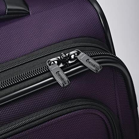Amazon.com   Samsonite Leverage LTE Wheeled Boarding Bag and 20-inch Spinner Upright Purple   Suitcases