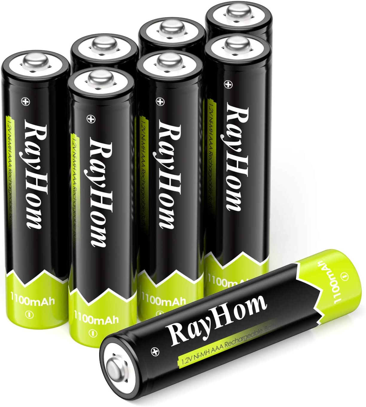 RayHom AAA Rechargeable Batteries 1100mAh Ni-MH Battery (8 Pack)