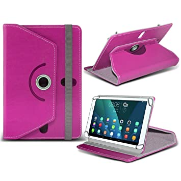 huawei tablet case. (hot pink) huawei mediapad t1 10 tablet [ 9.6 inch ] case [stand