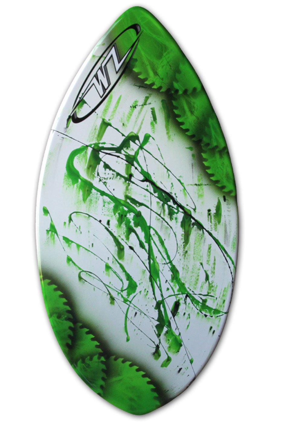 Wave Zone Squirt - 36.5'' Fiberglass Skimboard for Beginners up to 90 Lbs - Green