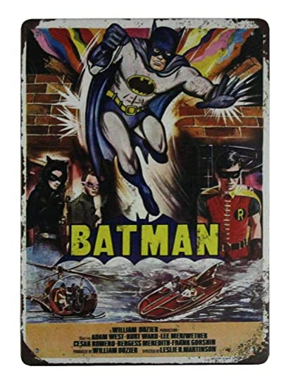 Amazon.com: AllPrints ShopForAllYou Decor Signs Batman DC ...