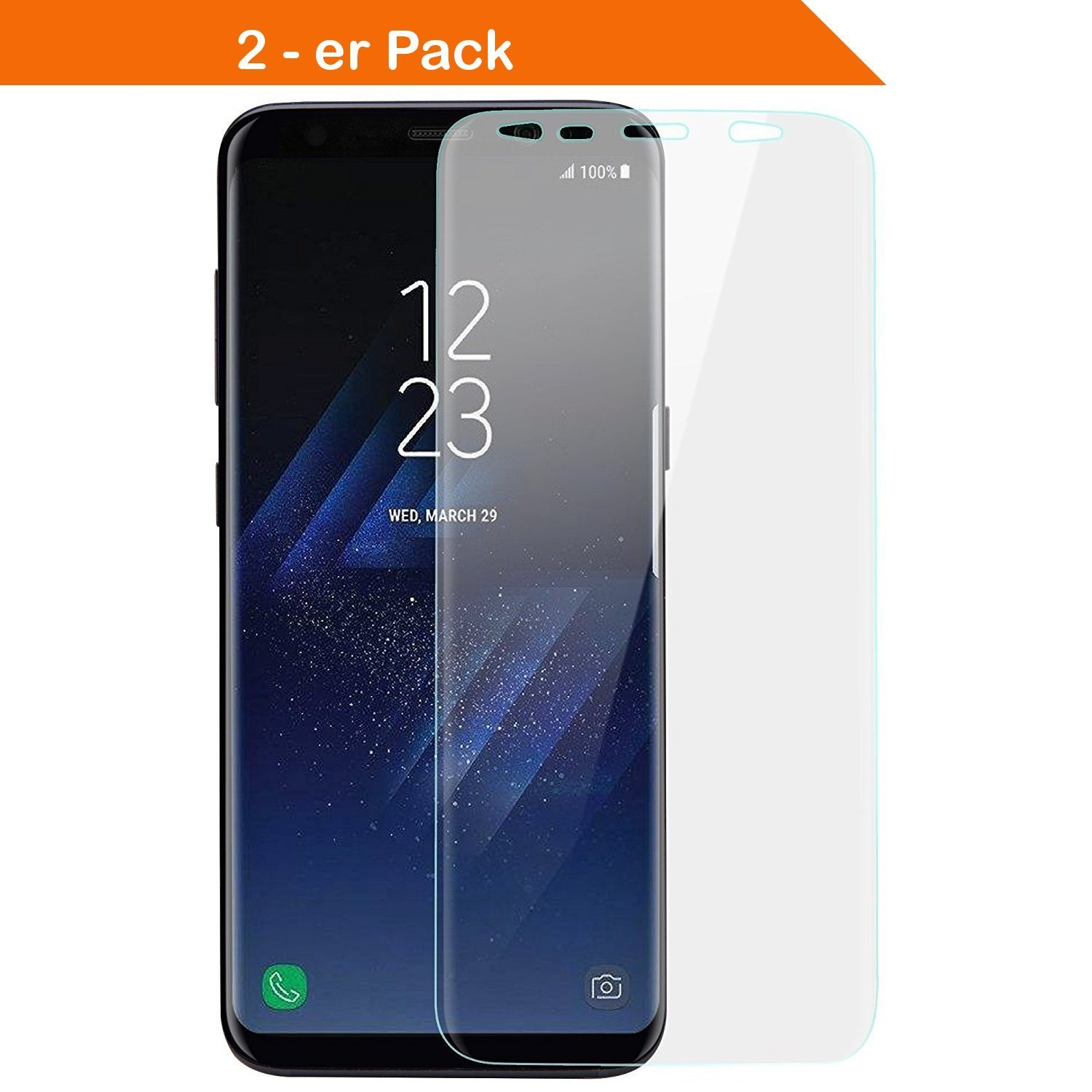 Wunderglass 2x Galaxy S8 Full Cover Curved Amazon De Computer