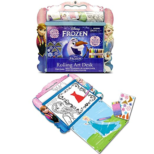 Amazon Disney Frozen Anna Elsa And Olaf Rolling Art Portable Design Desk Toys Games