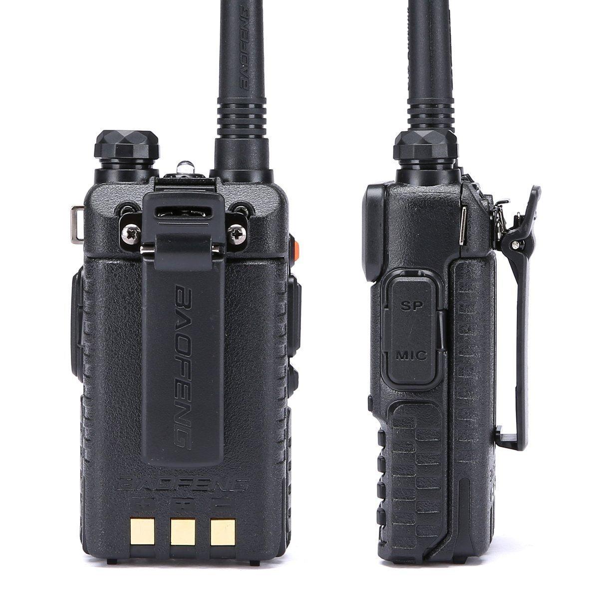 12 1800mah Batteries BaoFeng Radio UV-5R Dual Band Two Way Radio 6 Pack 1 Programming Cable Baofeng Walkie Talkie Ham Radio + 6 NA-771 Antennas and Speaker Mics