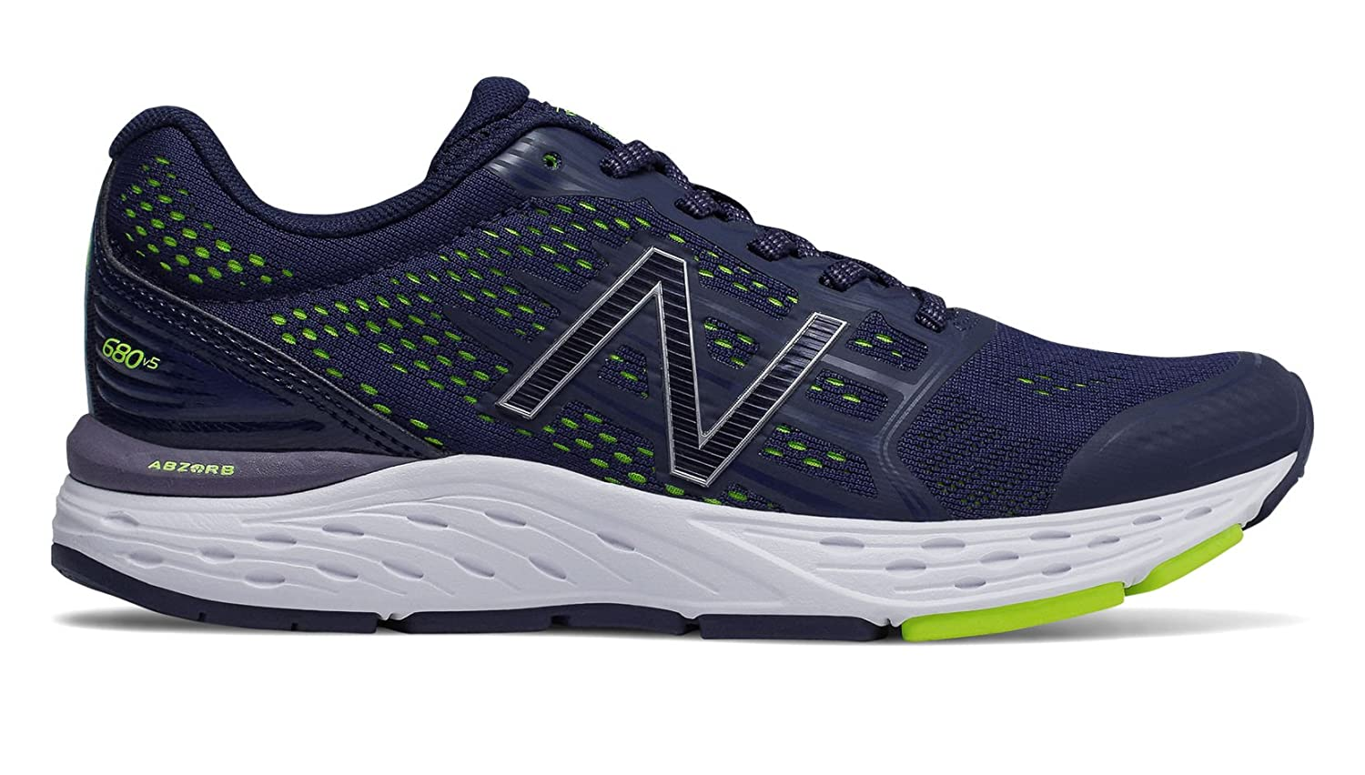 New Balance Women's 680v5 Cushioning Running Shoe B077S4CPVT 7 2E US|Navy